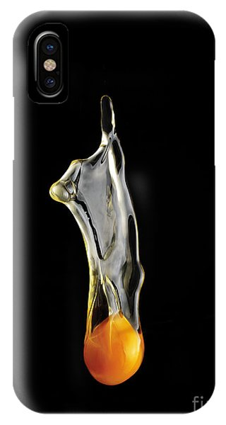 Cake iPhone Case - Egg Yolk Dripping, Falling, On Black by Melodia Plus Photos