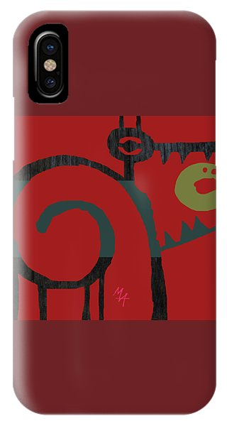 IPhone Case featuring the digital art Eggeater by Attila Meszlenyi