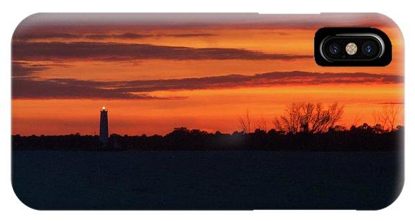 Egmont Key Lighthouse Sunset IPhone Case
