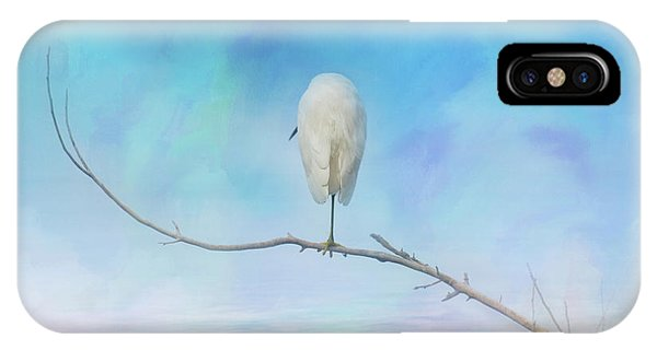 Egret On A Branch IPhone Case