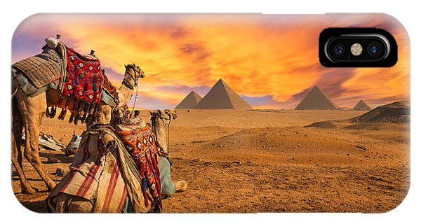 Egyptian iPhone X Case - Egypt. Cairo - Giza. General View Of by Kanuman