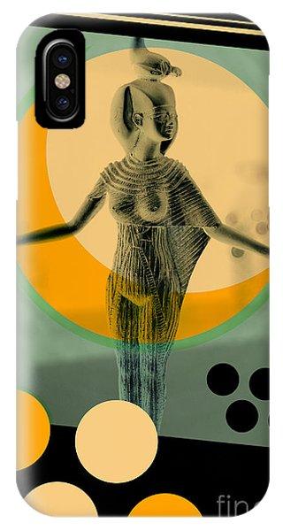 Background iPhone Case - Egypt Statue Retro Design Poster by Bruno Ismael Silva Alves