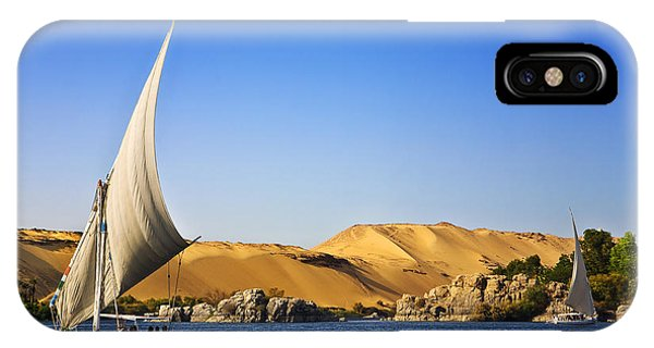 Egyptian iPhone X Case - Egypt. The Nile At Aswan by Witr