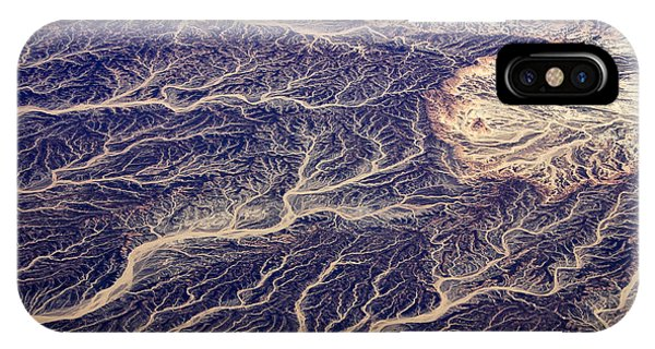 River iPhone Case - Egyptian Desert - Aerial View by Frank Wasserfuehrer