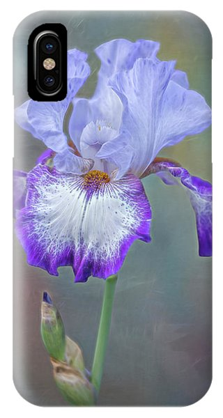 iPhone Case - Electric Bearded Iris Flower by Susan Candelario