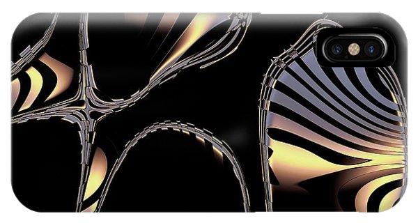 Elegant Black Fractal 1 IPhone Case