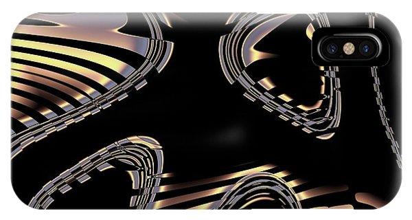 Elegant Black Fractal 2 IPhone Case