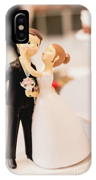 Elegant Wedding Cake Dolls IPhone Case