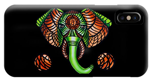Elephant Head Painting Sacral Chakra Art Zentangle Elephant African Tribal Artwork IPhone Case
