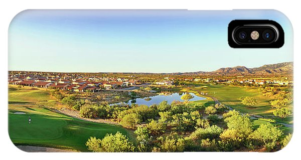 iPhone Case - Elevated View Of Golf Course, Sun City by Panoramic Images