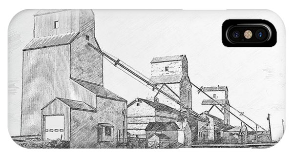 IPhone Case featuring the drawing Elevator Row by Brad Allen Fine Art
