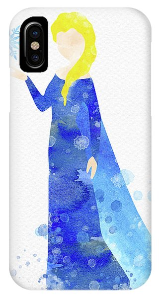 Freeze iPhone Case - Elsa Watercolor by Mihaela Pater