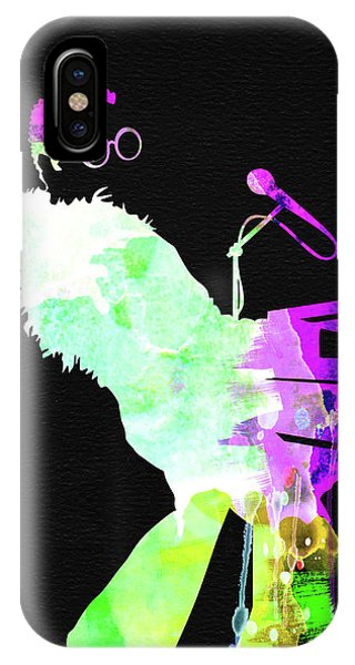 Print iPhone Case - Elton Watercolor II by Naxart Studio