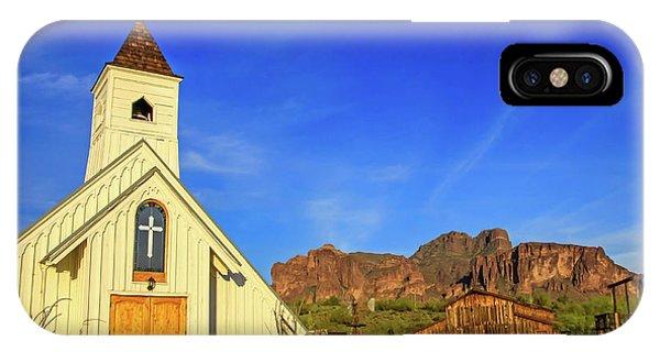 Elvis Chapel At Apacheland, Superstition Mountains IPhone Case