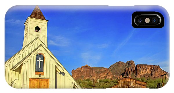 Elvis Chapel At Apacheland, Superstition Mountains IPhone Case