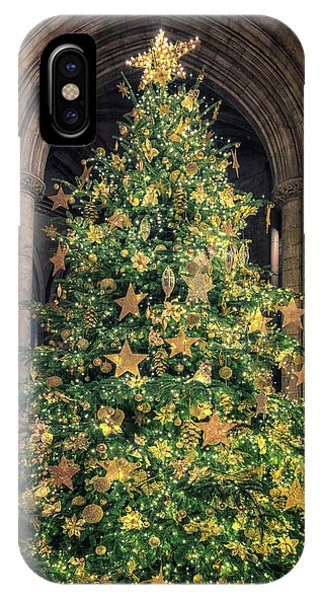 Ely Cathedral Christmas Tree 2018 IPhone Case