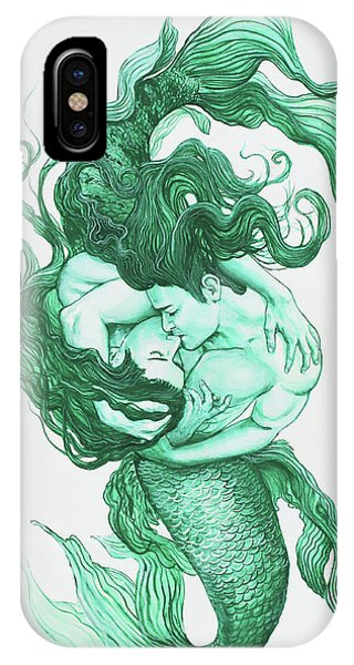 Embracing Mermen IPhone Case
