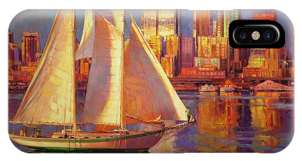 Docked Boats iPhone Case - Emerald City Twilight by Steve Henderson