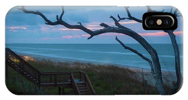 Emerald Isle Obx - Blue Hour - North Carolina Summer Beach IPhone Case