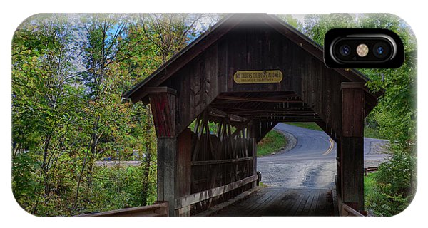 Emily's Covered Bridge In Stowe Vermont IPhone Case