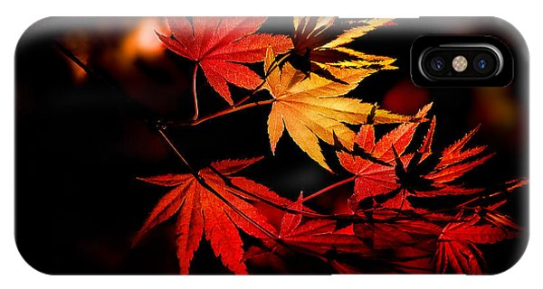 Orange Color iPhone Case - Enchanting Yellow To Red Gradient On by Hibiki Nakata
