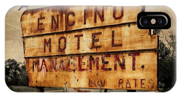 IPhone Case featuring the photograph Encino Hotel by Lou Novick