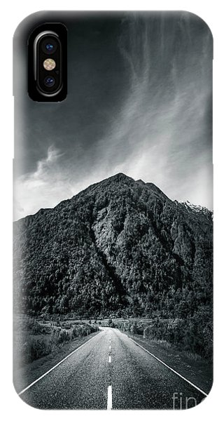 Mono iPhone Case - Entering The Dark Depth by Evelina Kremsdorf