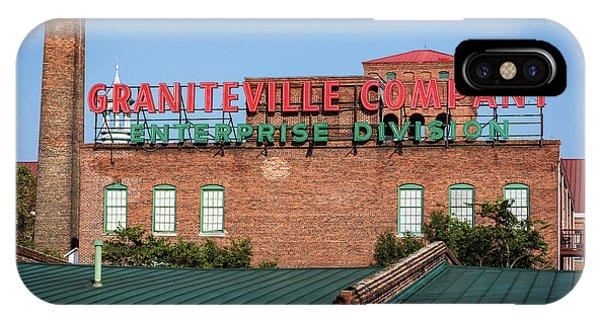 Enterprise Mill - Graniteville Company - Augusta Ga 2 IPhone Case
