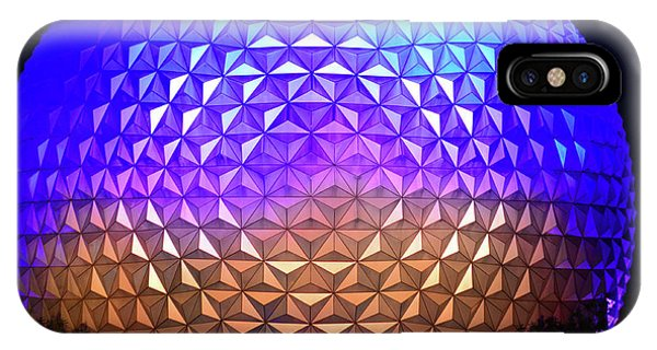 iPhone Case - Epcot Poster Work Blue by David Lee Thompson