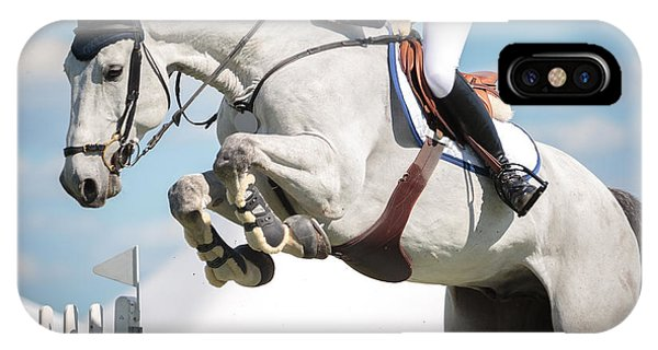 Purebred iPhone Case - Equestrian Sports, Horse Jumping, Show by Catwalkphotos