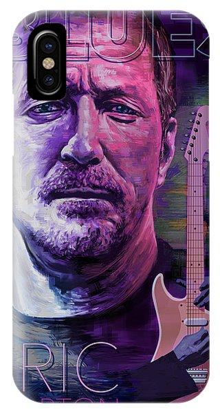 Eric Clapton iPhone Case - Eric Clapton Poster Art by Garth Glazier