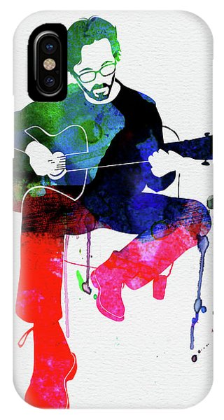 Print iPhone Case - Eric Clapton Watercolor by Naxart Studio