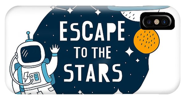 Escape To The Stars - Baby Room Nursery Art Poster Print IPhone Case