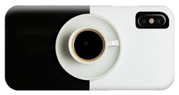 IPhone Case featuring the photograph Espresso Coffee On A White Pot by Michalakis Ppalis