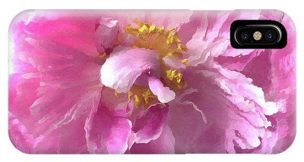 Peony iPhone Case - Ethereal Pink Impressionistic Watercolor Peony - Pink Watercolor Impressionistic Pink Peonies Floral by Kathy Fornal
