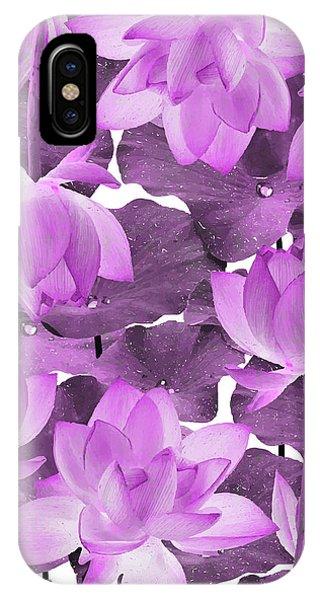 Violet iPhone Case - Ethereal Purple Lotus Flower - Tropical, Botanical Art - Purple Water Lily - Lotus Pattern - Violet by Studio Grafiikka