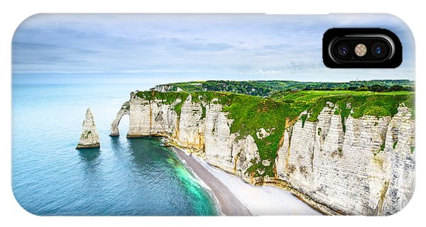 French iPhone Case - Etretat Aval Cliff, Rocks And Natural by Stevanzz