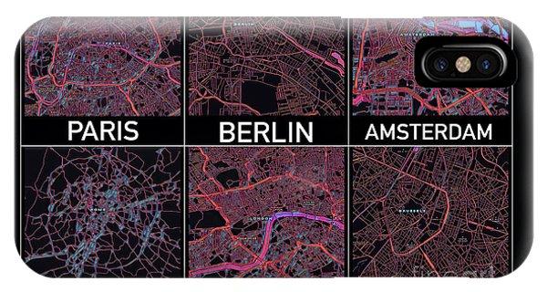 European Capital Cities Maps IPhone Case