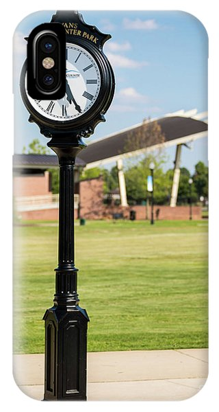 Evans Towne Center Park Clock - Columbia County Ga IPhone Case