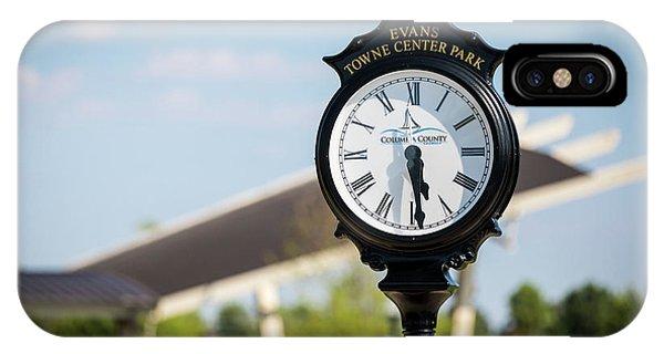 Evans Towne Center Park Clock - Evans Ga IPhone Case