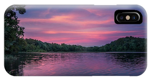 Evening At Springfield Lake IPhone Case