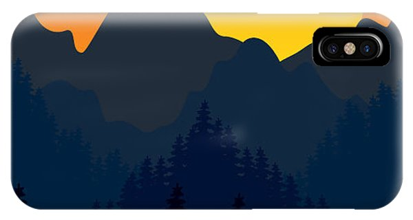 Smokey iPhone Case - Evening Mountains Forest by Zolotnyk Mariana