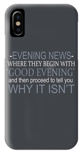 Evening News IPhone Case
