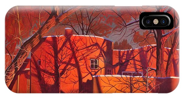 Adobe iPhone Case - Evening Shadows On A Round Taos House by Art West