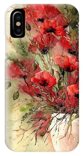 Colorful Flowers iPhone Case - Everything About Poppies I by Suzann Sines