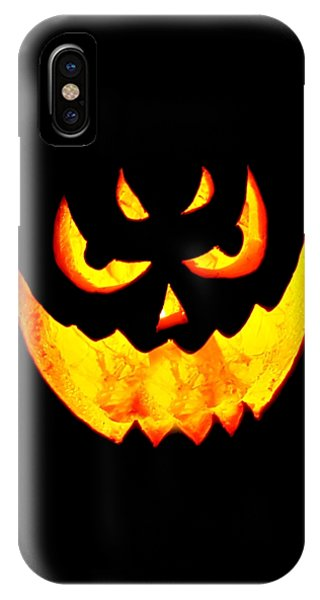 Evil Glowing Pumpkin IPhone Case