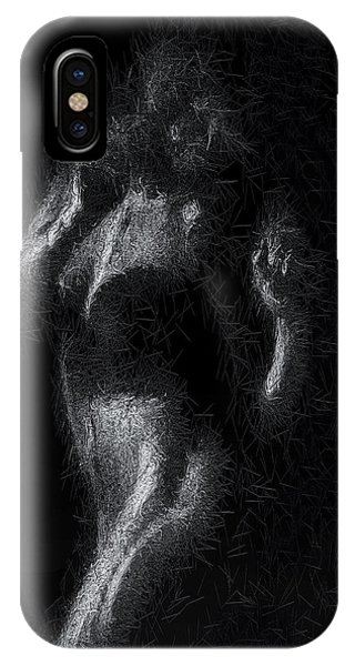 IPhone Case featuring the digital art Exhale by ISAW Company