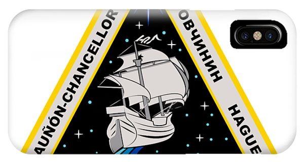 International Space Station iPhone Case - Expedition 57 3rd Crew Patch by Nikki