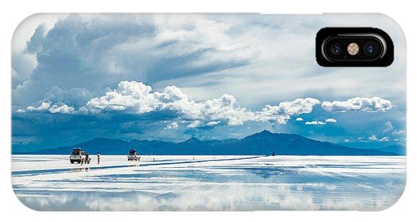 Salt Water iPhone Case - Exploring The Salar De Uyuni With by Benedikt Juerges