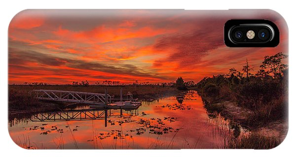 Explosive Sunset At Pine Glades IPhone Case